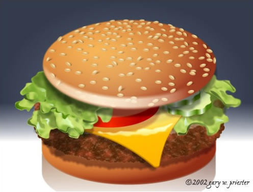 Cheeseburger �2002 Gary W. Priester All rights reserved