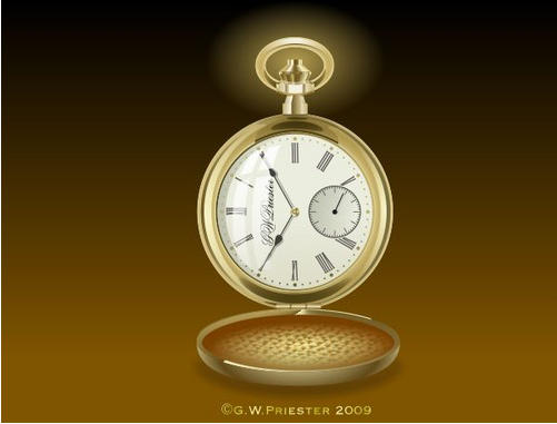 Gold Pocketwatch �2009 Gary W. Priester - All rights reserved